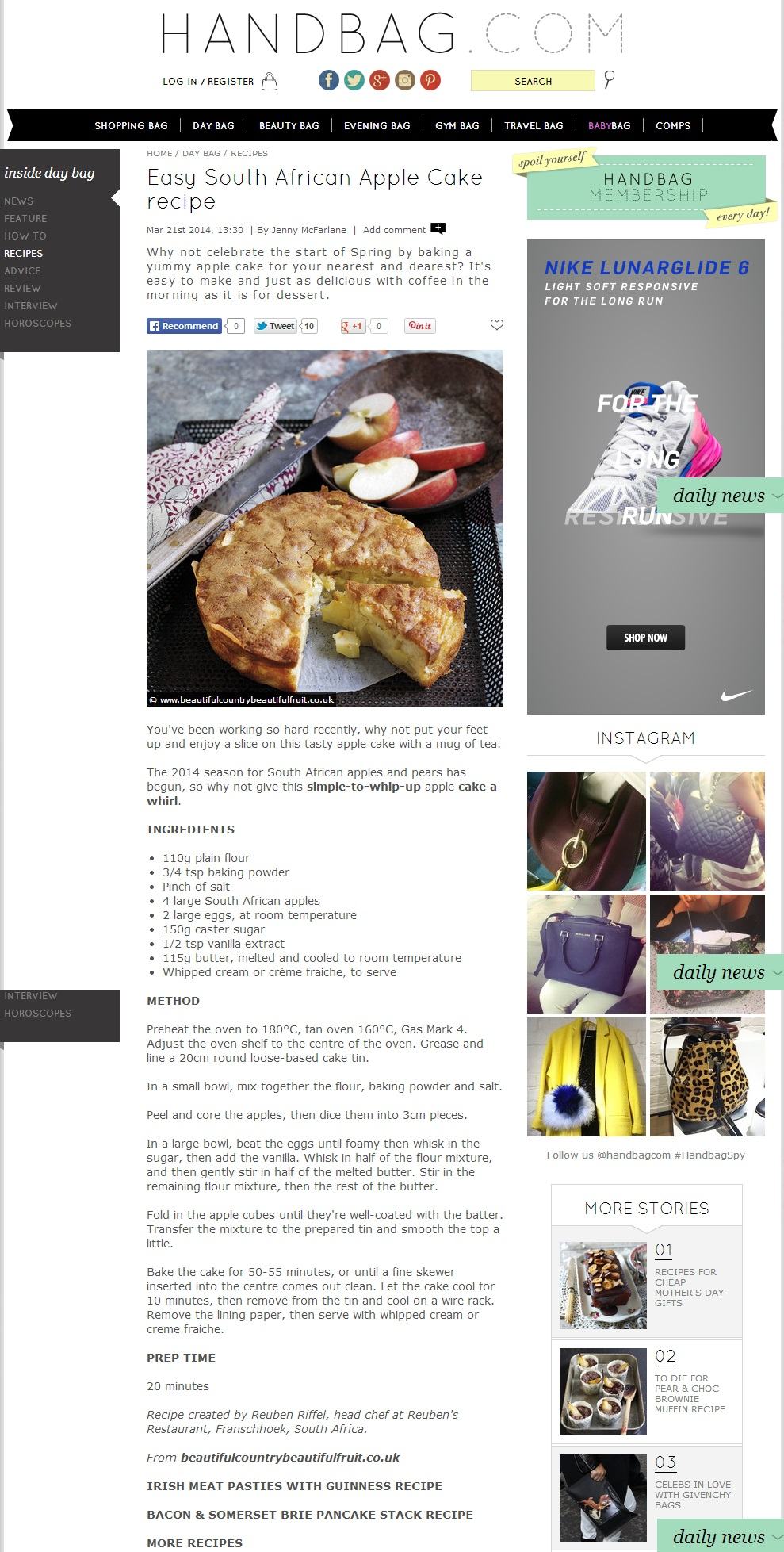 Easy South African Apple Cake Recipe Jenny Mcfarlane